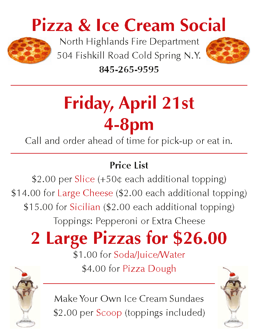 NHFD Pizza April 21 2017