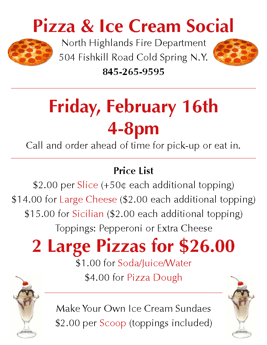 NHFD Pizza Feb 2018