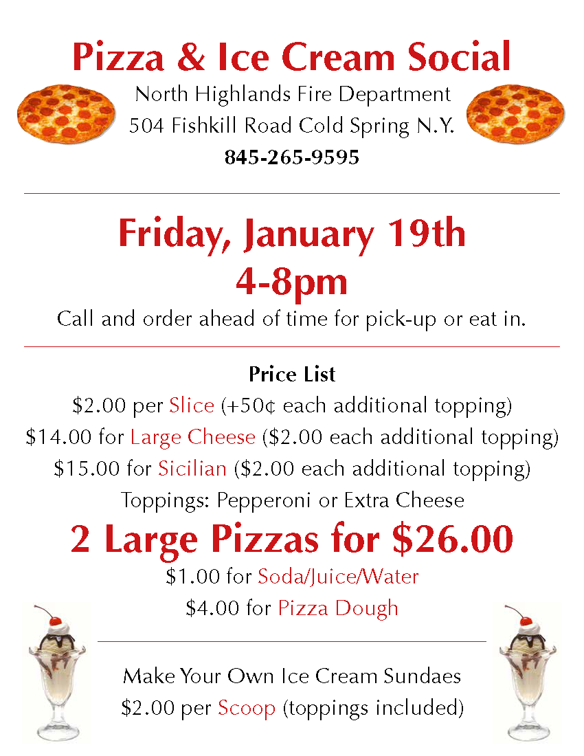 NHFD Pizza Jan 2018